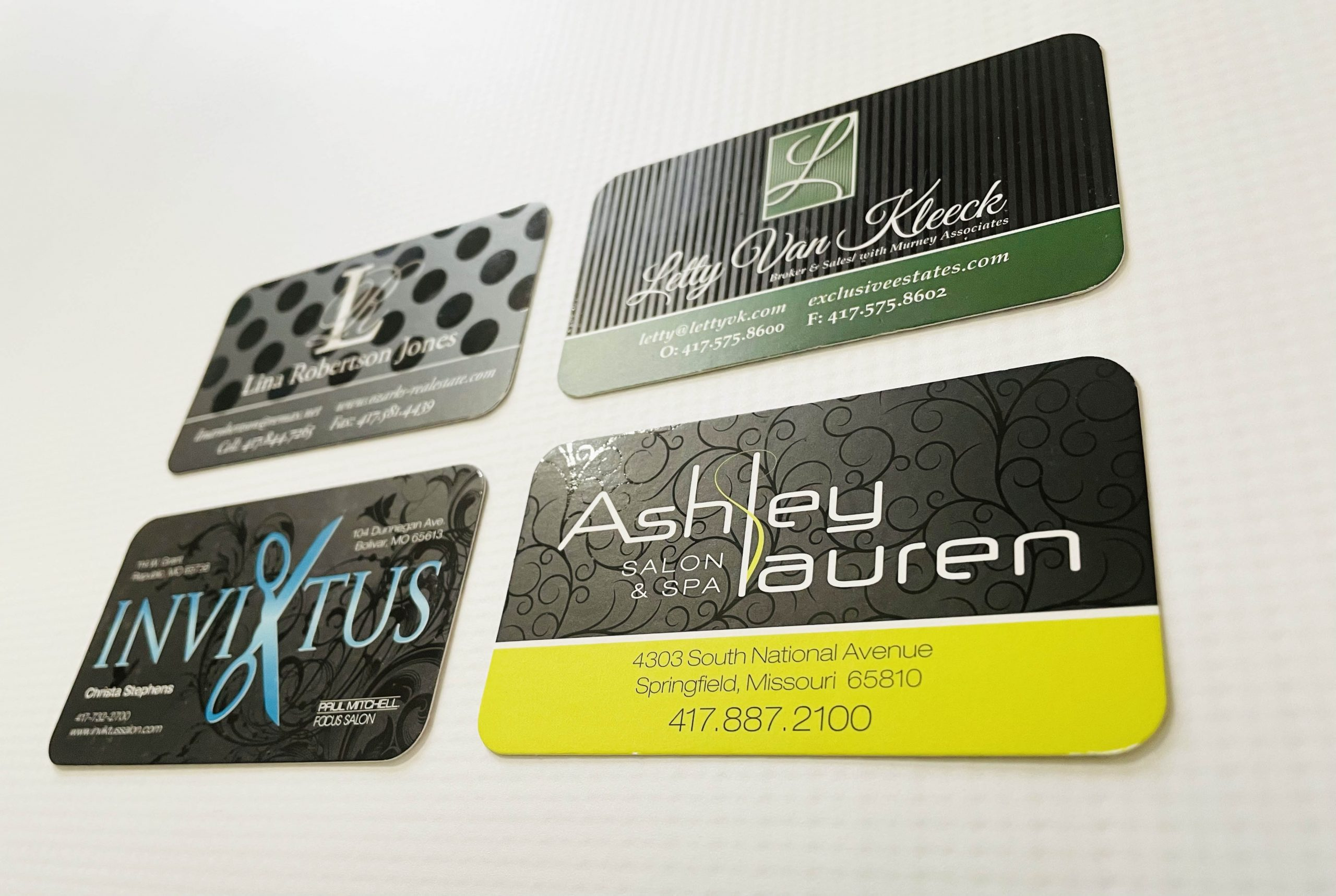Printed Business Cards Spot Varnish