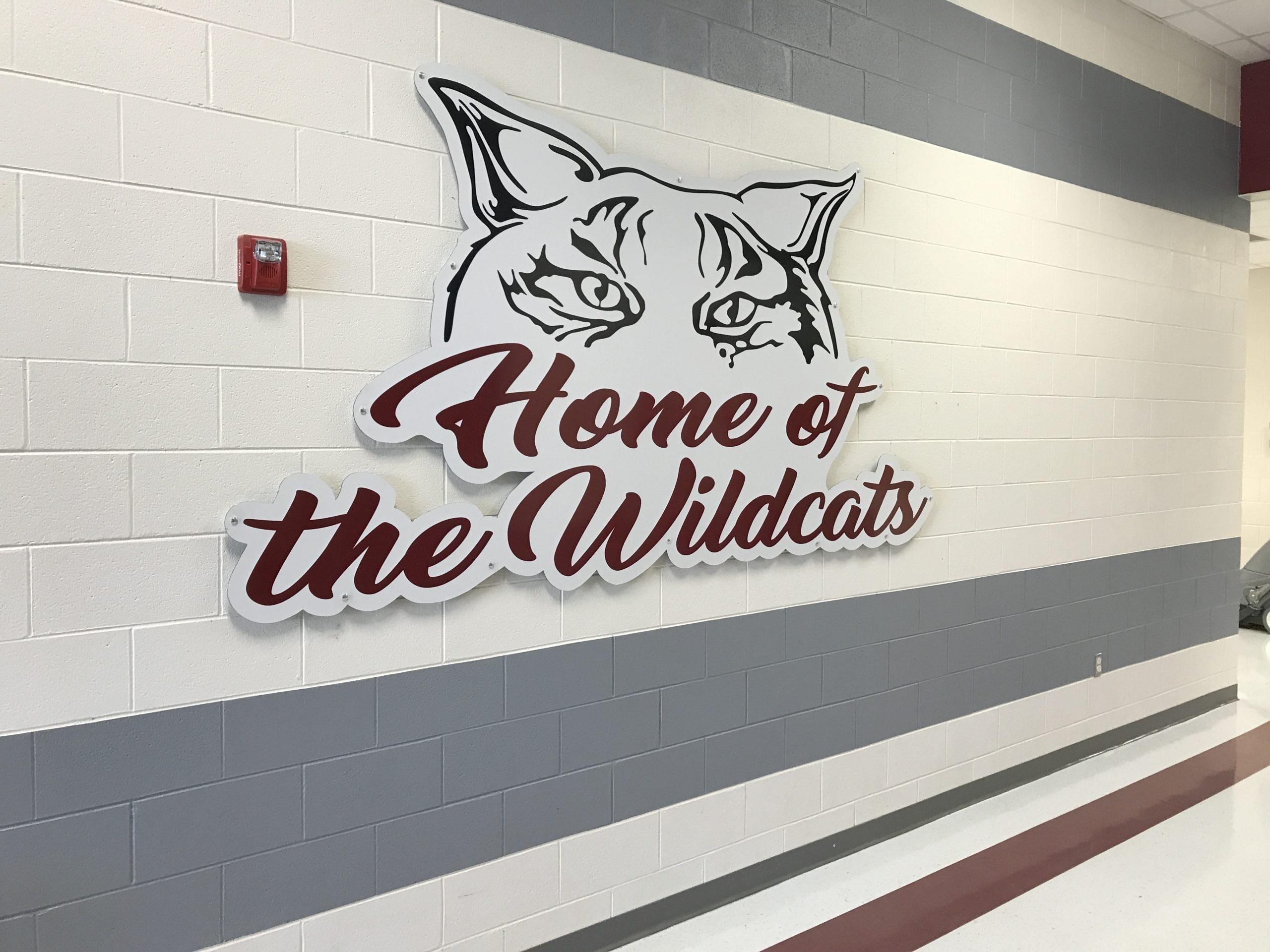 Rogersville Schools Contour Cut Wildcat