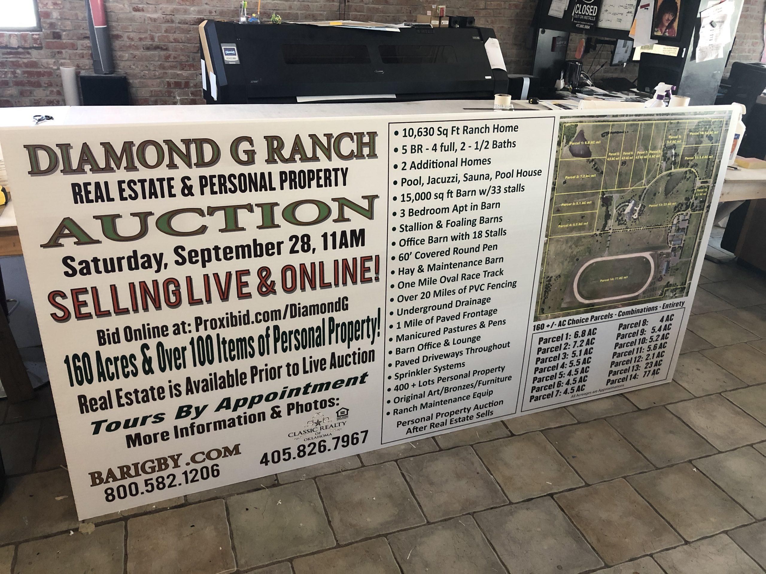 Diamond G Ranch Auction